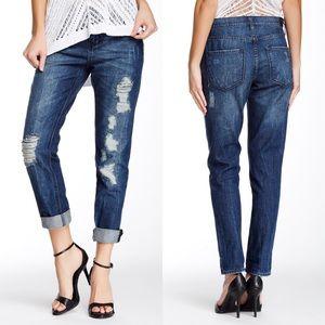 DKNY Bowery Boyfriend Ripped Jeans